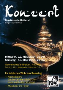 Jahreskonzert 2014 @ Gemeindesaal Breiten Rothrist